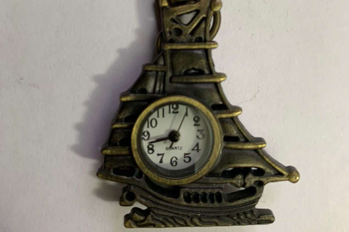 Quartz Yelkenli Saat Anahtarlık