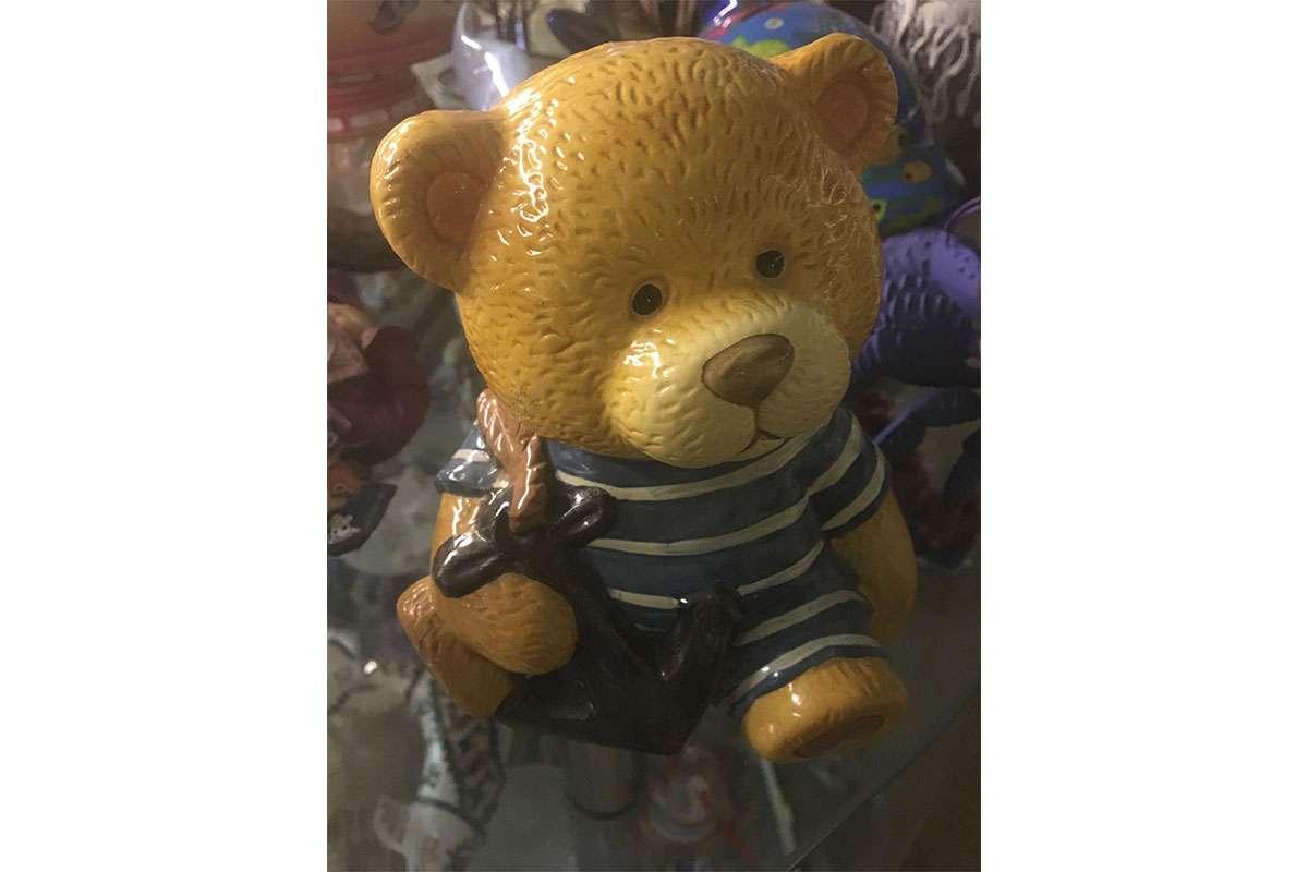 Captain Teddy Bear Piggy Bank