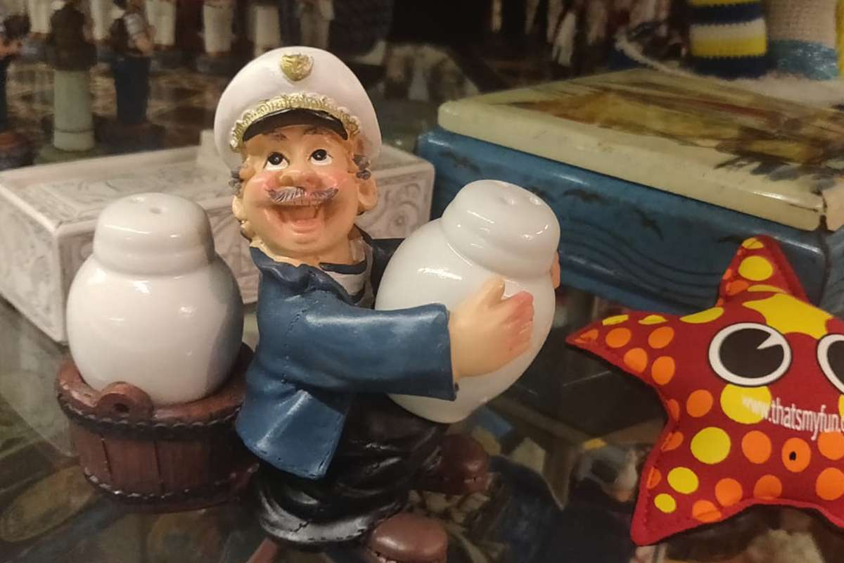 Crazy Captain Salt and Pepper Shakers