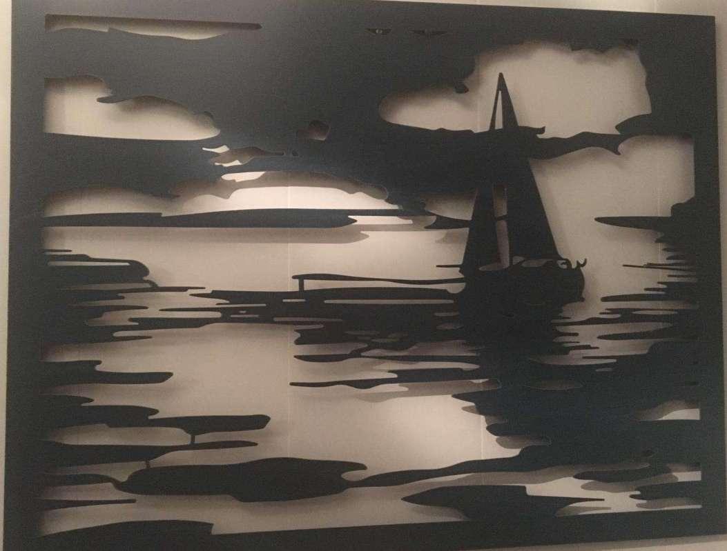 Yelkenlİ Manzaralı Duvar Süsü