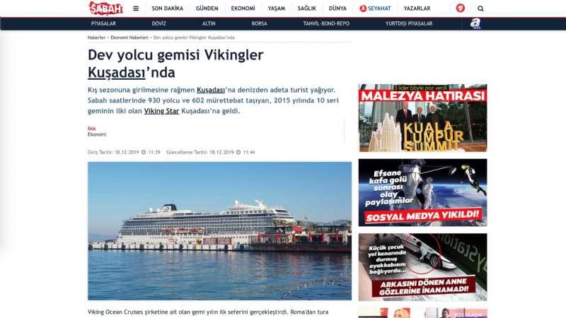 Dev yolcu gemisi Viking Star Kuşadası'nda
