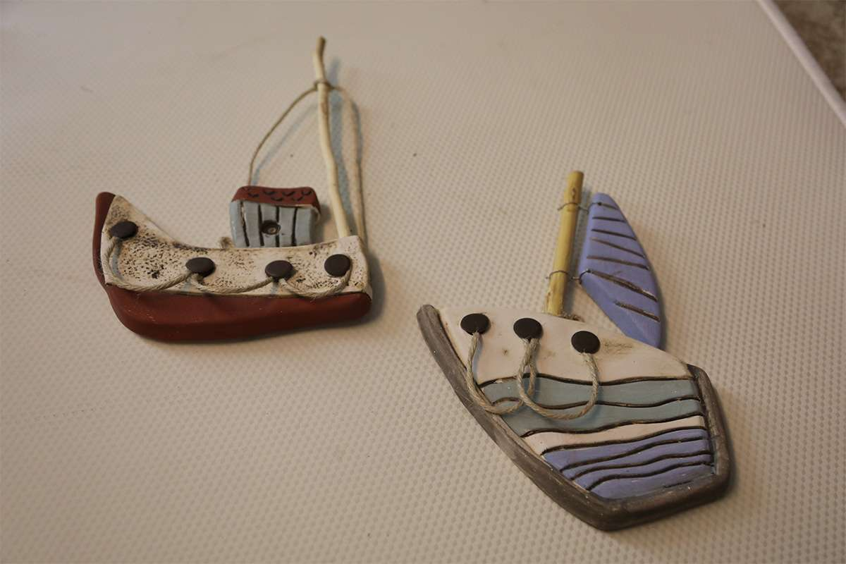 Ceramic Sailboat