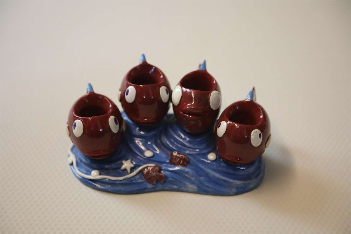 Fish Four Candle Holder