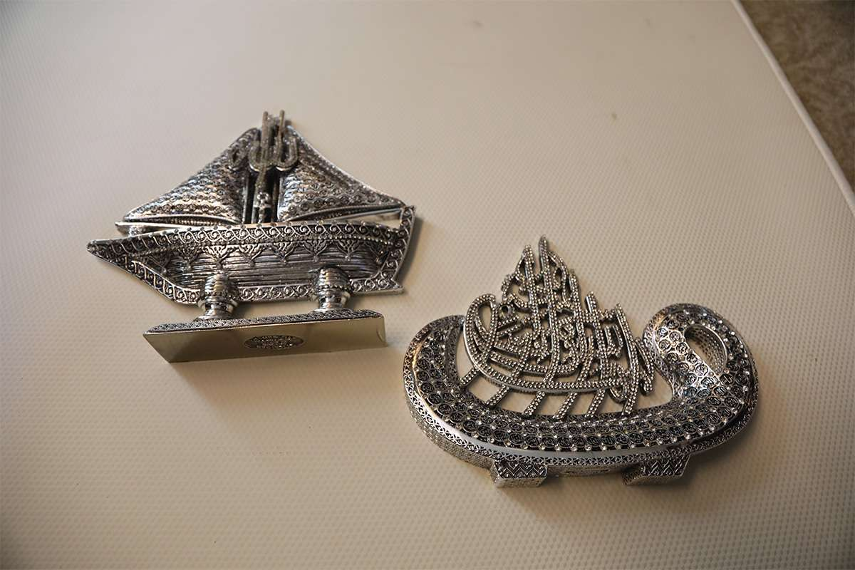 Calligraphy Sailing Ship Objects