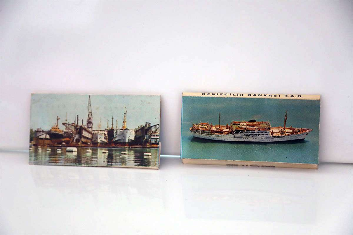 Turkish Maritime Lines Antique Matchbox Two Pieces