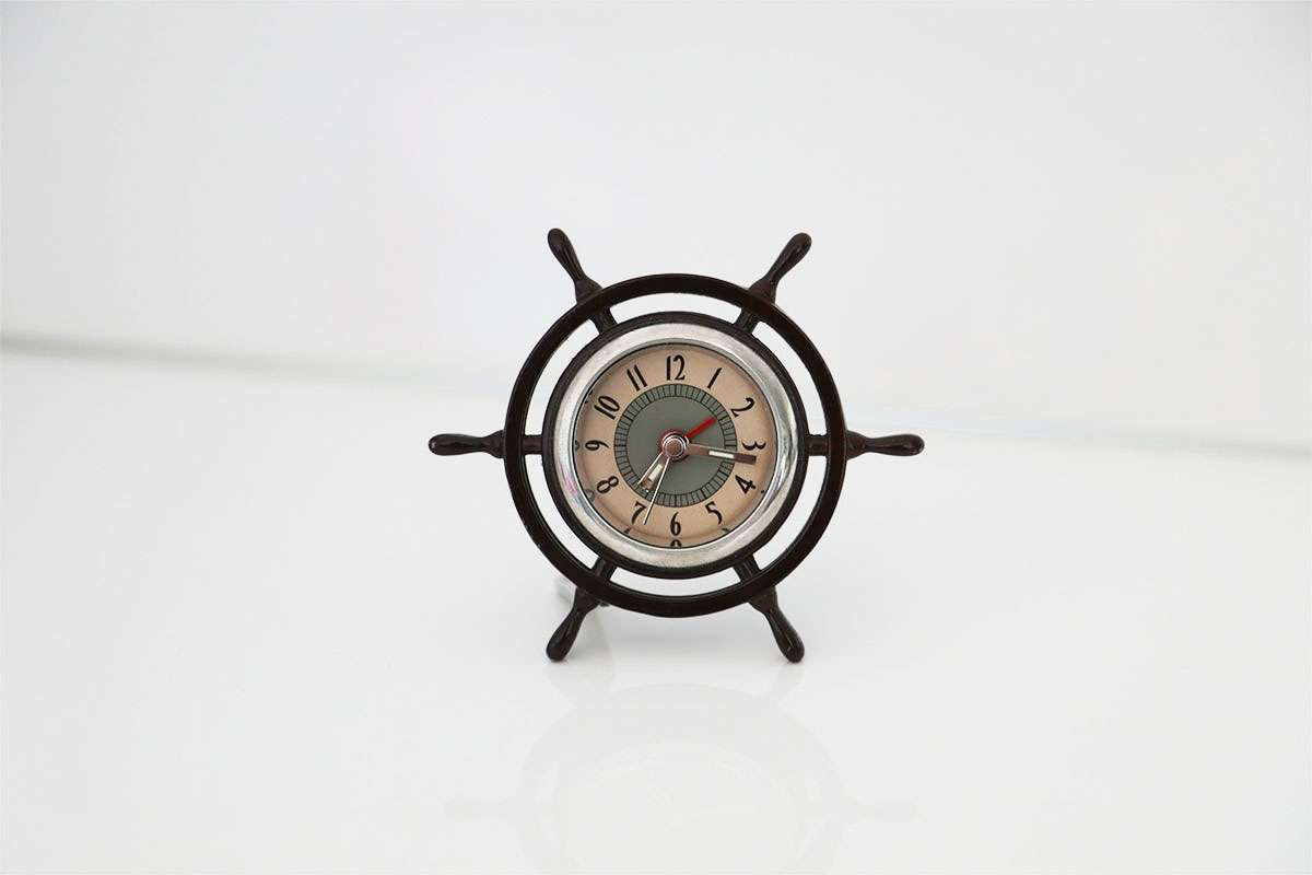 Rudder View Table Clock
