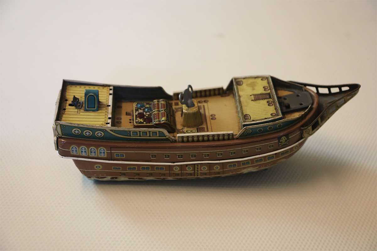 Old Japanese Style Antique Ship