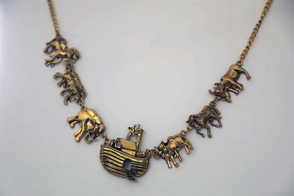 Antique Noah's Ark Necklace