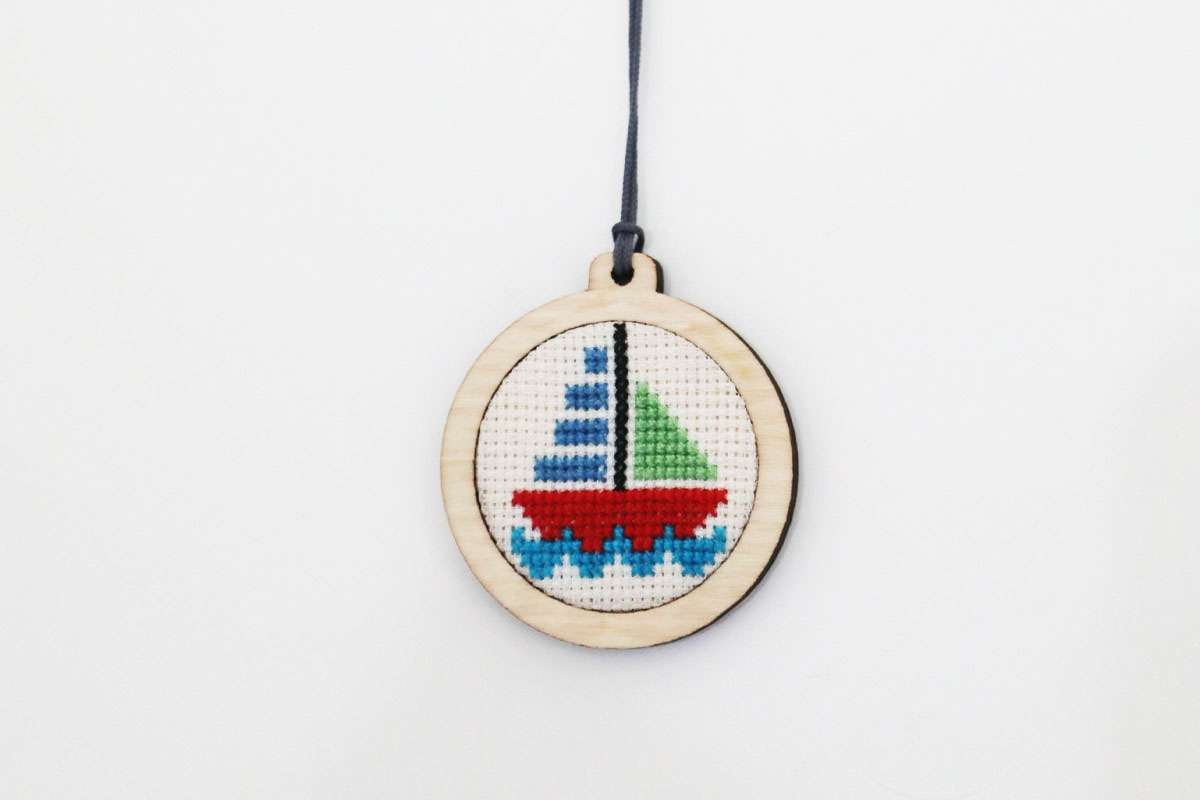 Sailboat Tapestry Necklace