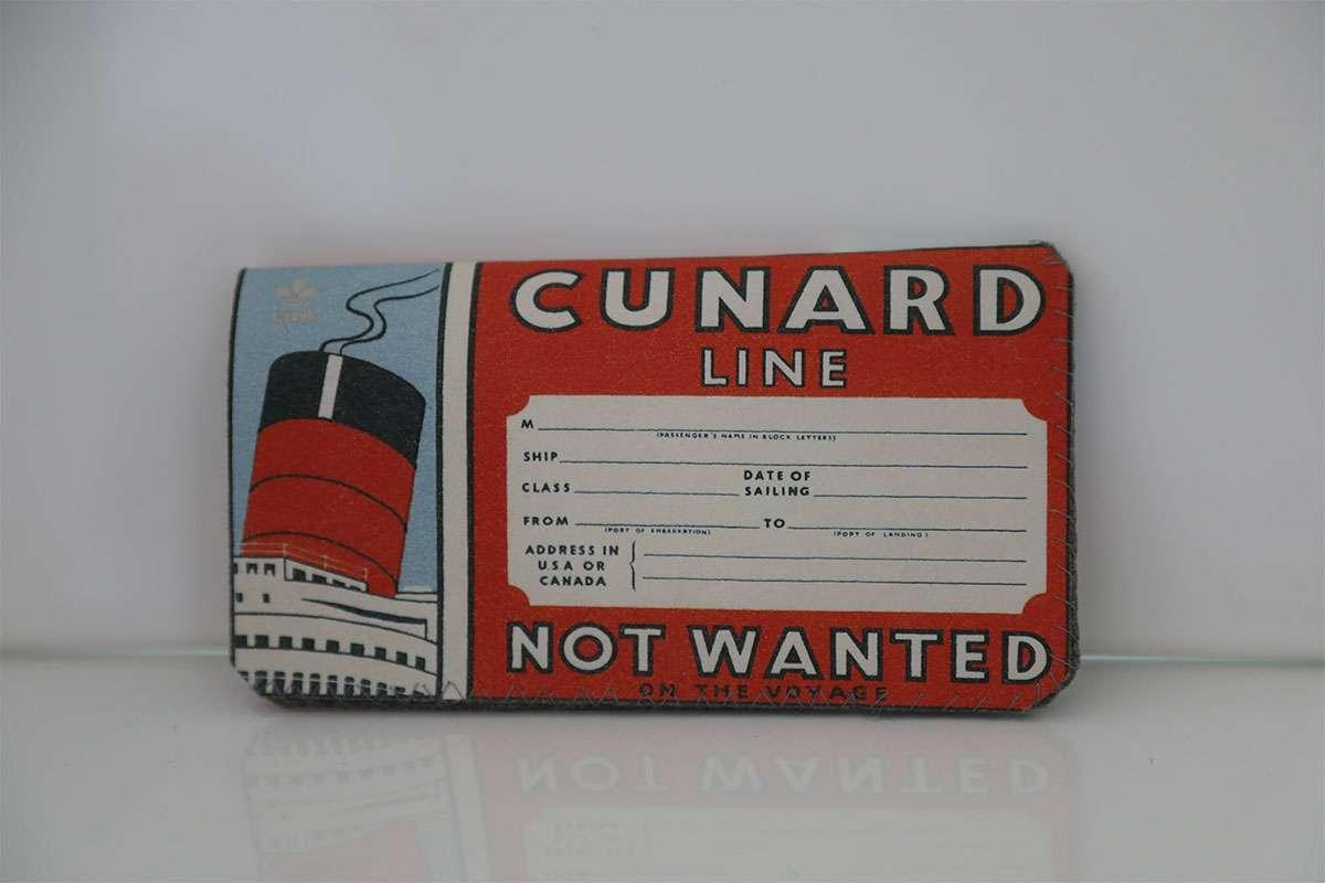 Vintage Cunard Telefon Kılıfı