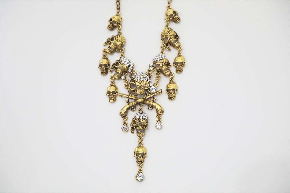 Stone Skull Necklace