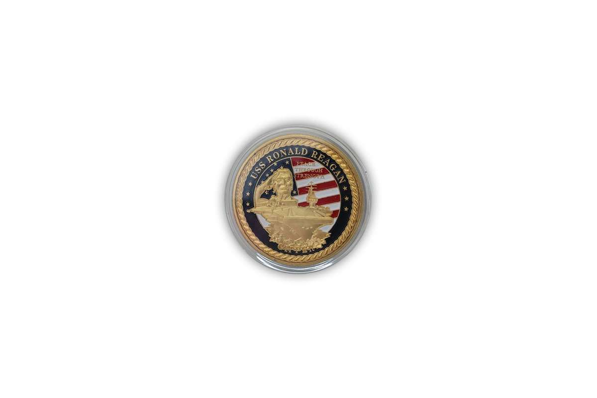 Antique USS Ronald Reagen Commemorative Coin