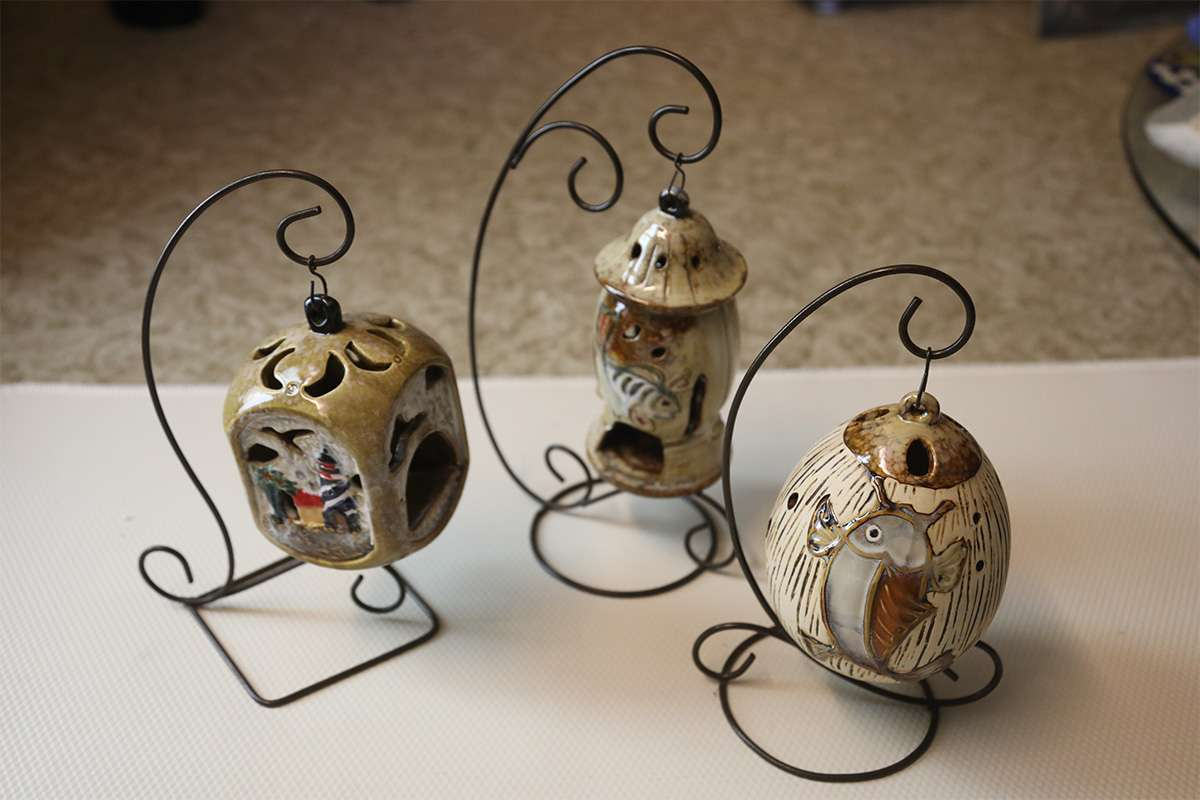 Triple Ceramic Candle Holder