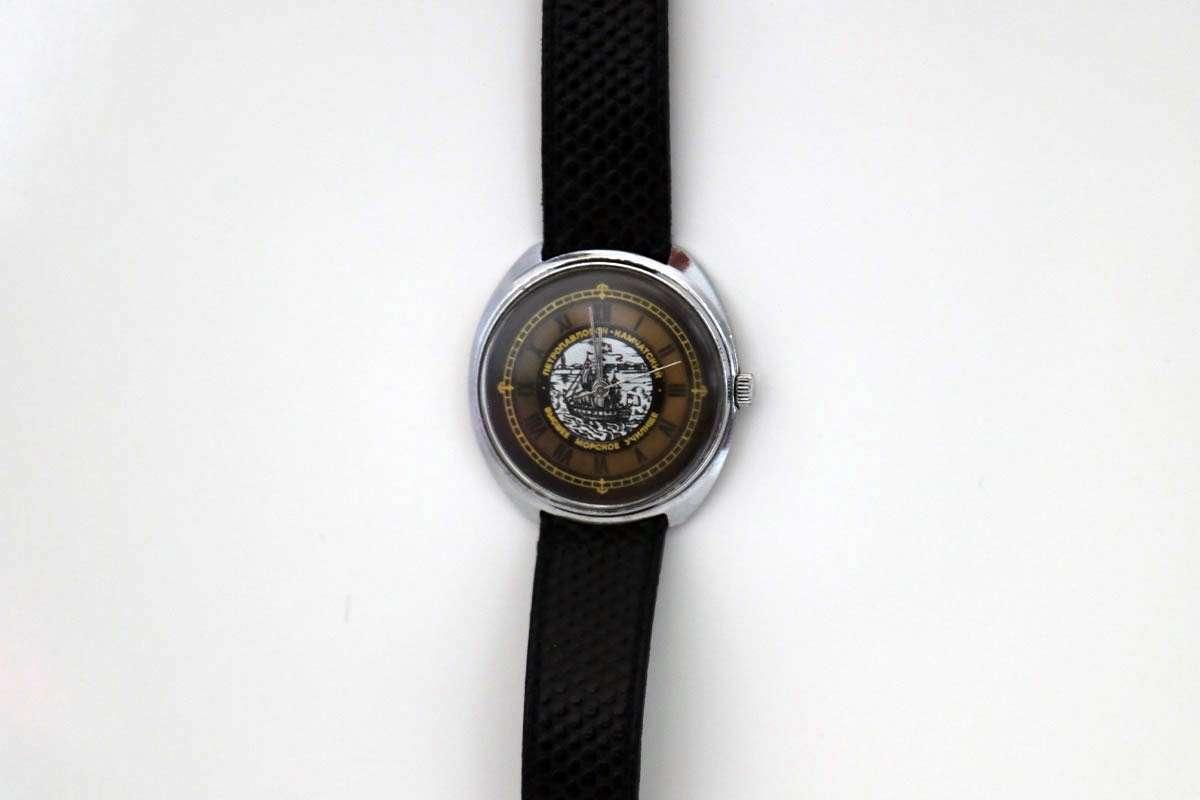 Vintage Rus Kurmalı Yelkenli Kol Saati