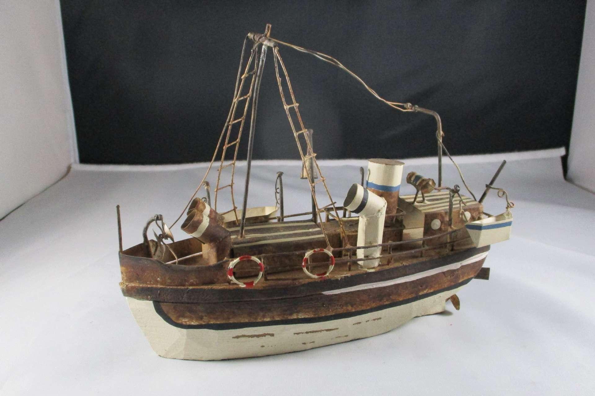 Nostaljik Metal Gemi Maketi