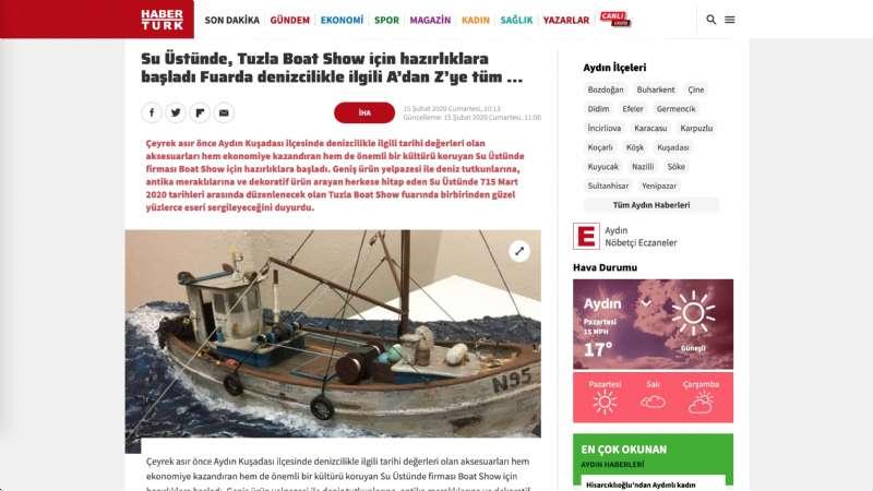 Su Üstünde, Tuzla Boat Show için hazırlıklara başladı