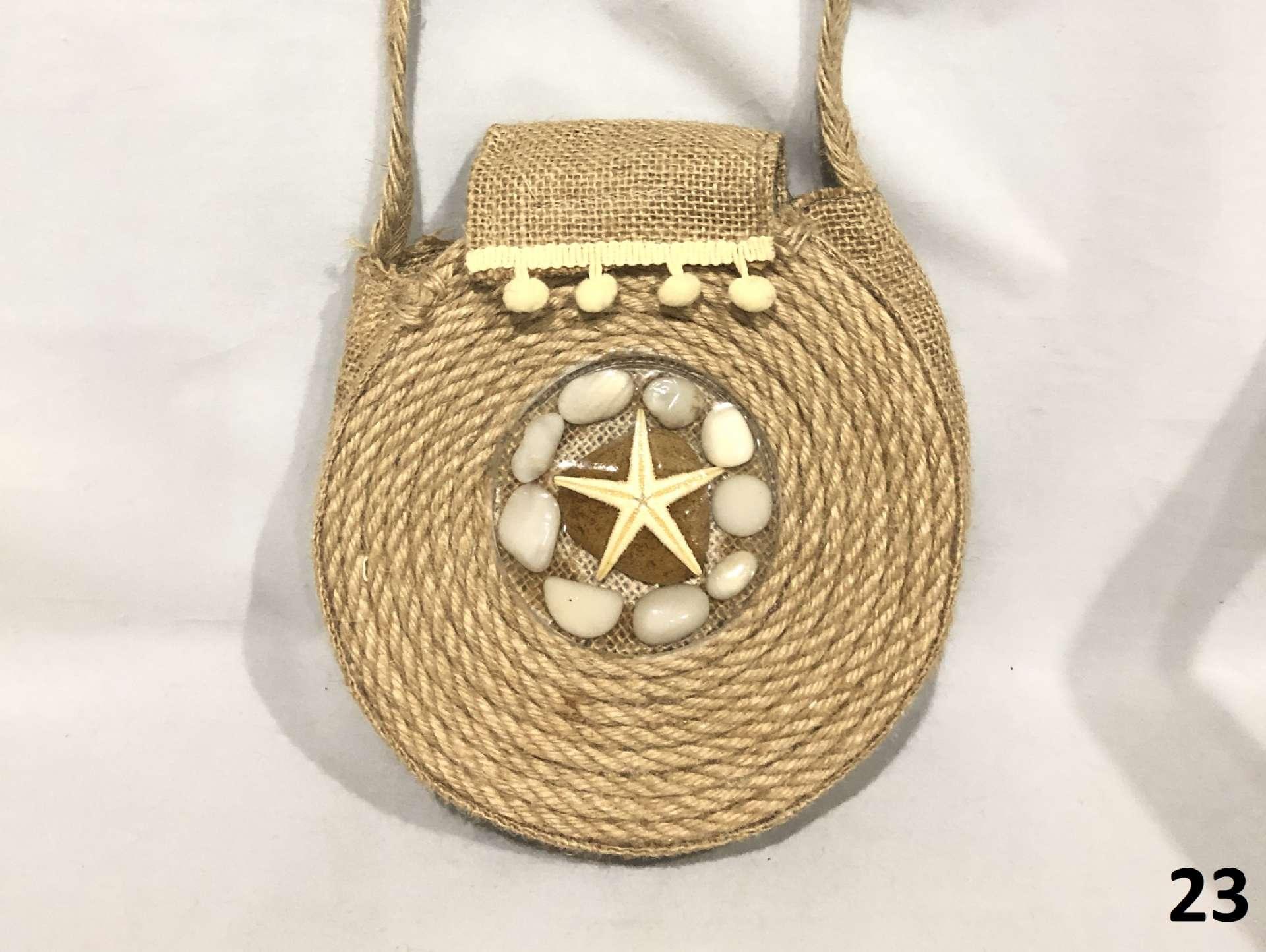 Round Straw Weave Bag