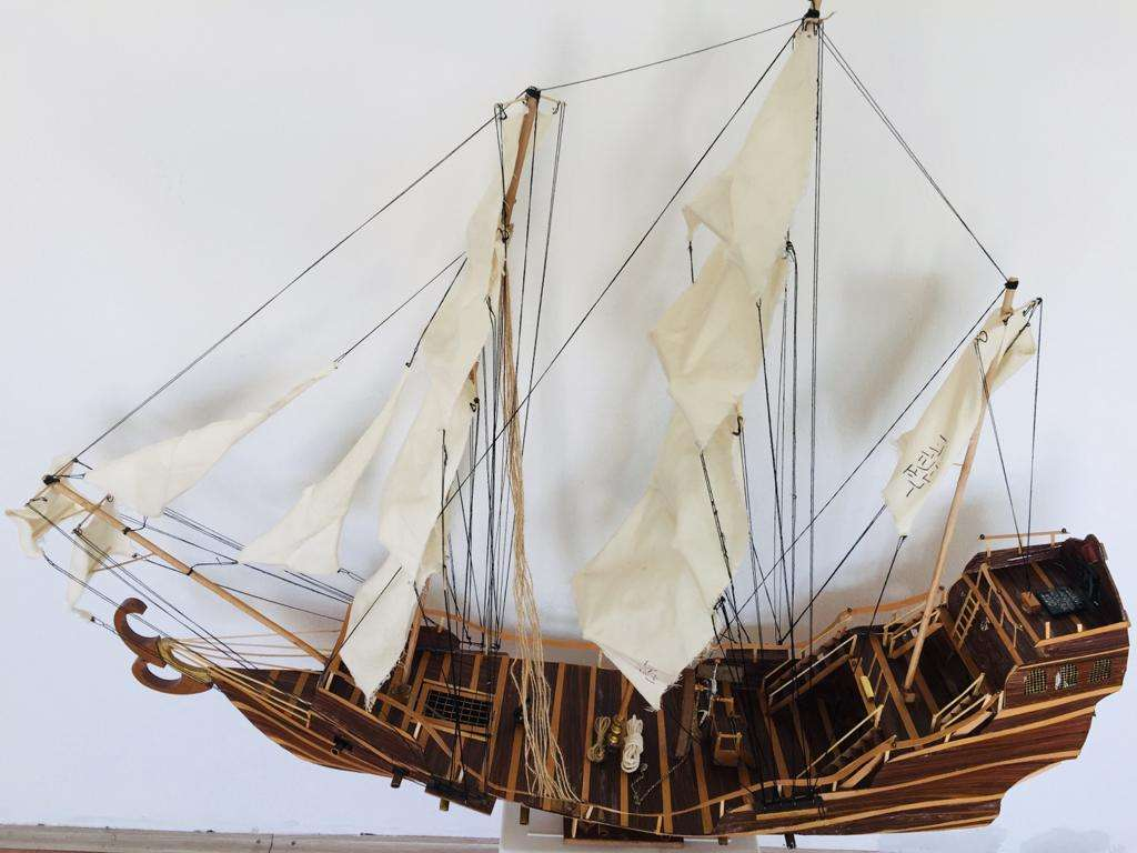 Wooden Sailing Ship Model