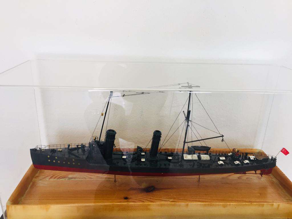 Turkish Warship Model with Lantern