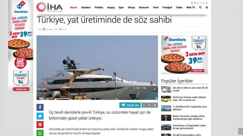 Turkey: The Star Country of the Yacht Production