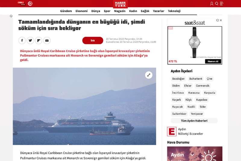 Pullmantur Cruise Ships in Aliaga