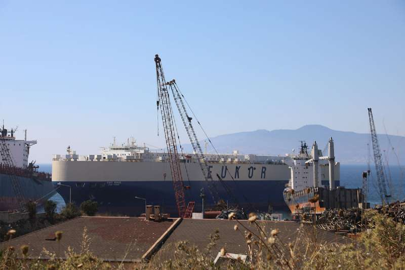 Ro-Ro Gemileri Aliağa'da