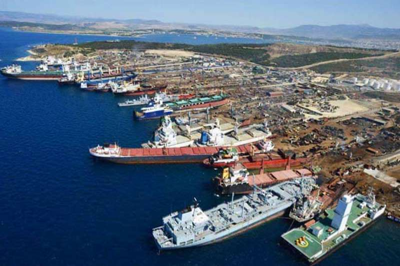 SHIPS ARE IN SCRAPPING PROGRESS IN THE ALIAGA SCRAPYARD 2020 AUGUST