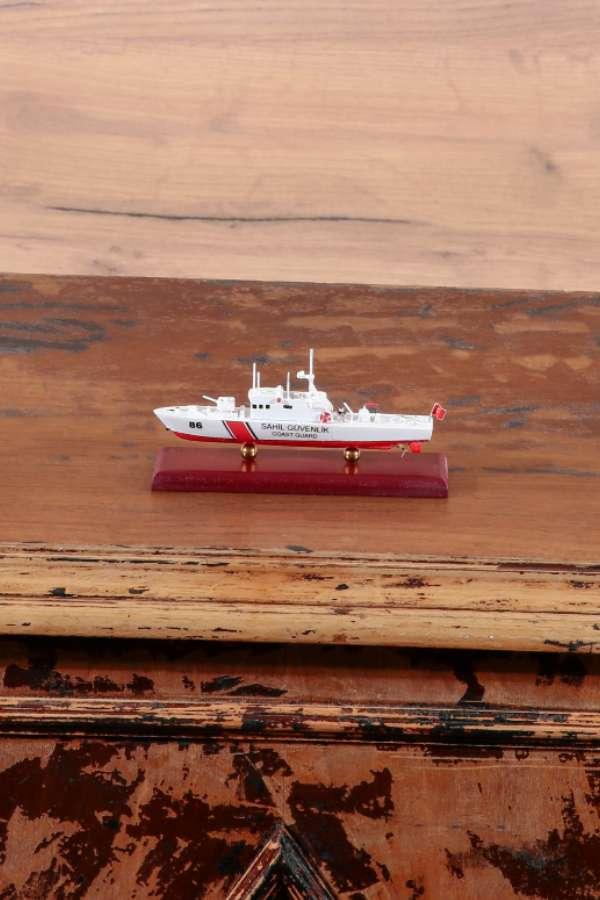 Mini Sahil Güvenlik Gemisi Maketi 86