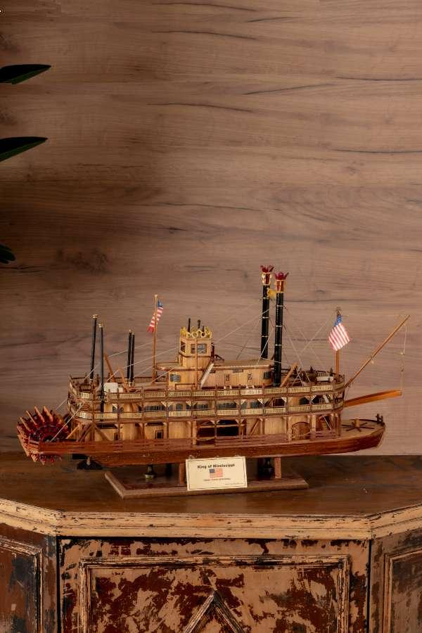 King of the Misissippi Arkadan Çarklı Gemi Maketi