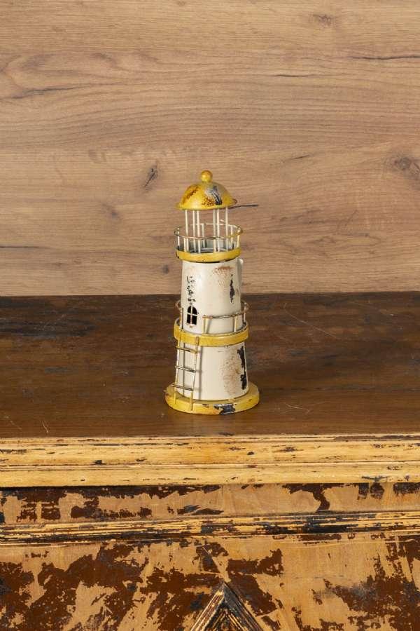 Krem Deniz Feneri Dekoratif Ürün
