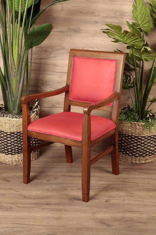 Kolçaklı Gemi Sandalyesi Kırmızı
