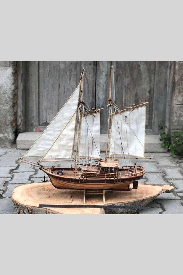 Yelkenli Gulet Model Gemi Maketi