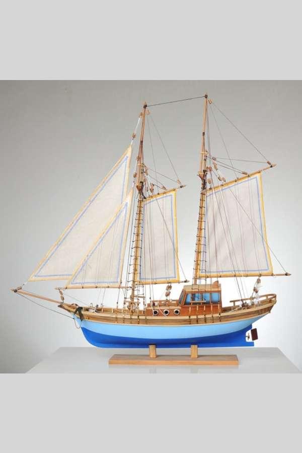 Yelkenli Bodrum Gulet Model Gemi Maketi