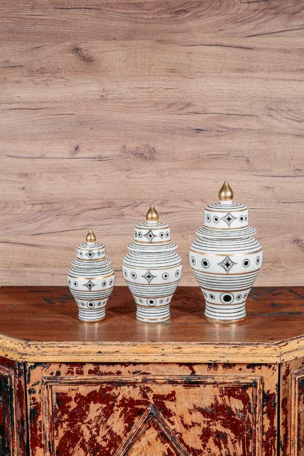 Üçlü İşlemeli Vazo